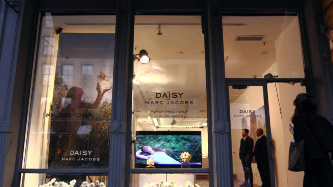 The Daisy Marc Jacobs Tweet Shop pop-up store in New York was open for a few days during fashion week in February 2014.