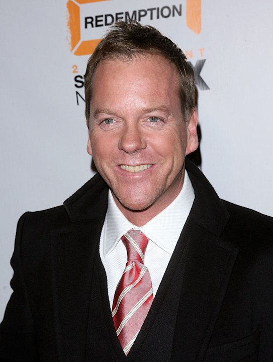 "Kiefer Sutherland attends the world premiere of ""24: Redemption"" at the AMC Theatres Empire 25 on November 19, 2008 in New York City."