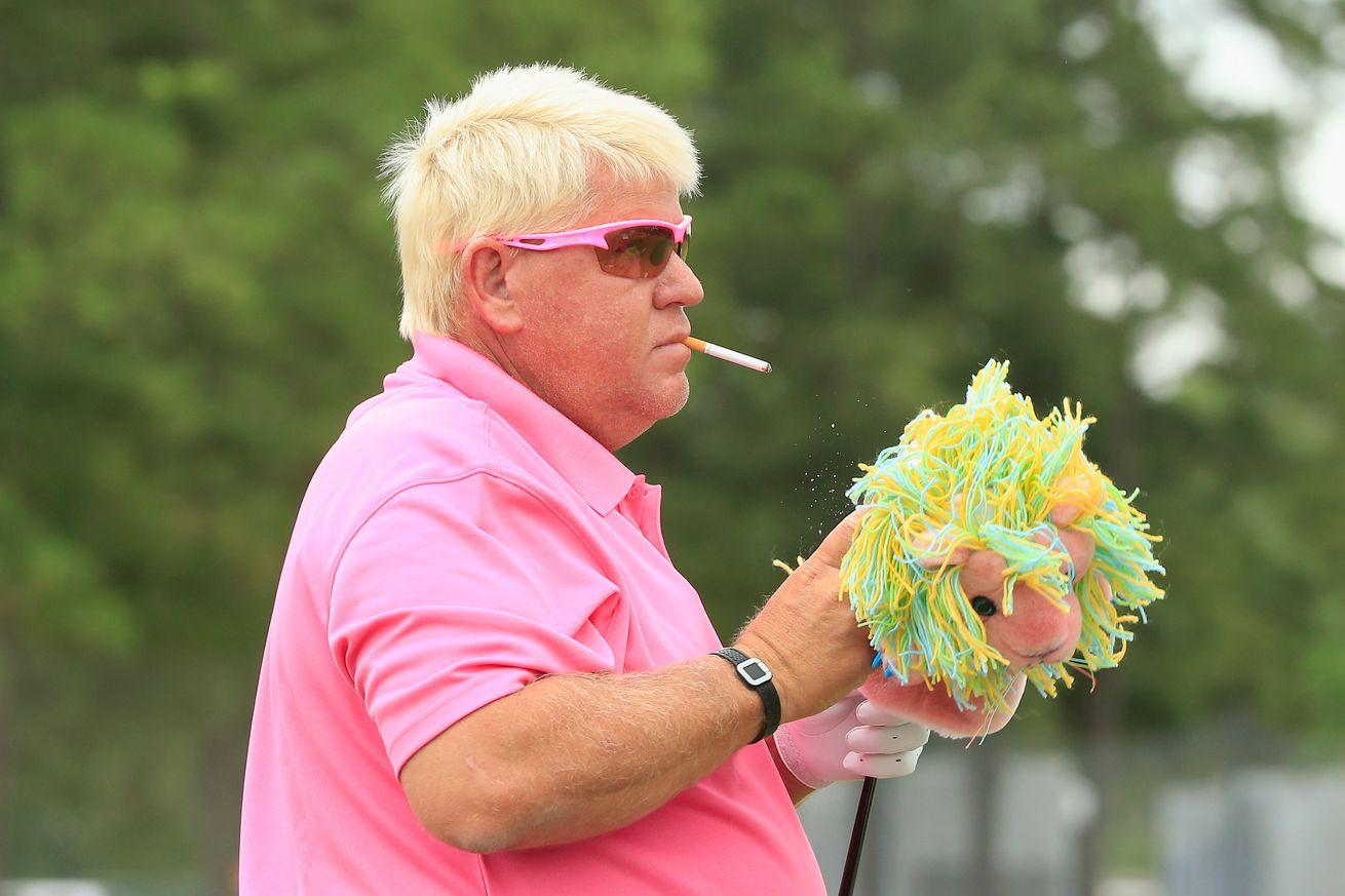 John Daly finishes his first Champions Tour major by asking for a drink