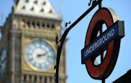 An underground sign is pictured next to the &quot;Big Ben&quot; clock tower on July 24, 2012. The London Underground began celebrating its 150th birthday on Wednesday, creaking under the demand of four million daily passengers as it looked back to the opening of the world&#39;s first underground railway in 1863