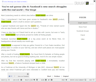 Cruxlight Makes Reading On Internet Easier And Intelligent [Review] image Cruxlight chrome browser