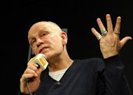 US actor John Malkovich, pictured in February, said it made little sense to do theater for money as he presented his latest play/opera, in which he plays a writer and serial assassin, in Mexico City