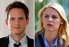 Patrick J. Adams, Claire Danes | Photo Credits: David Giesbrecht/USA Network, Kent Smith/Showtime