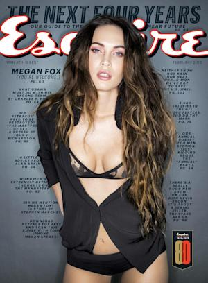This magazine cover released by Esquire shows actress Megan Fox on the cover of the February 2013 issue of Esquire magazine. (AP Photo/Esquire)