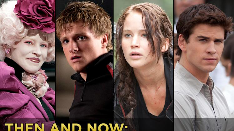then and now the hunger games cast Title Card