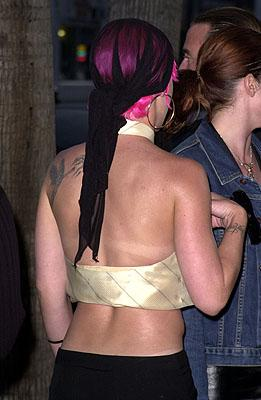 Pink at the Beverly Hills premiere of 20th Century Fox's Moulin Rouge