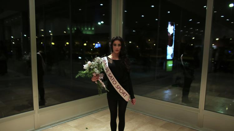 "Contestant in the ""Miss World Sevilla"" pageant Molina, 19, poses after finishing the pageant in Seville"