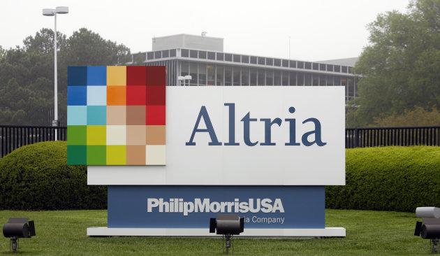 FILE - This April 23, 2008, file photo, shows the Altria Group Inc. corporate headquarters in Richmond, Va. Altria Group Inc. said Thursday, April 26, 2012, that its first-quarter profit rose almost 4