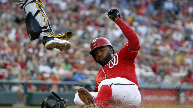 Hairston's SF lifts Nationals past Pirates in 11