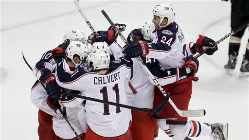 Tyutin's OT goal lifts Blue Jackets over Ducks 3-2