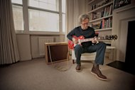 Eric Clapton playing &#39;Lucy&#39; at home in London. Courtesy of Guitar Center