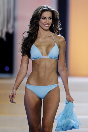 Miss Alabama Katherine Webb competes in the swimwear competition