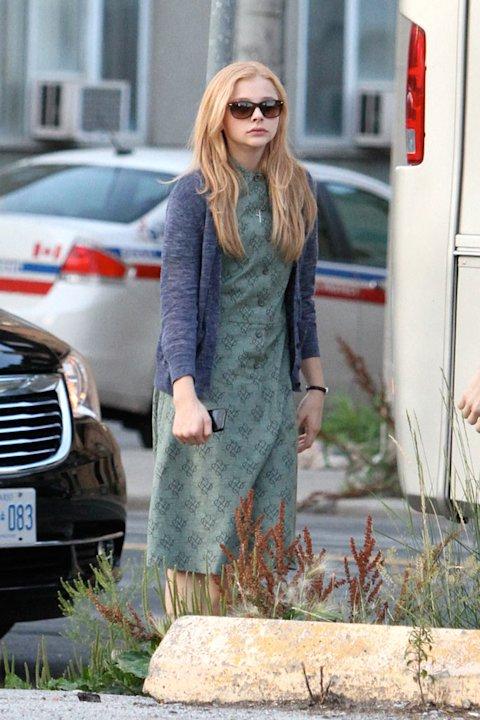 Spotted on set, Chloe Moretz