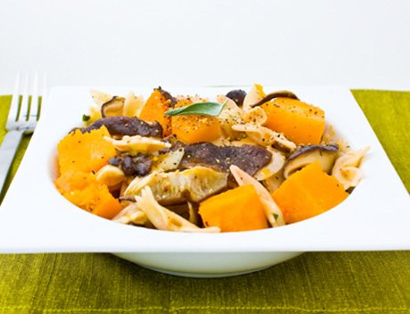 Roasted Garlic, Butternut, Shiitake, ans Sage Pasta