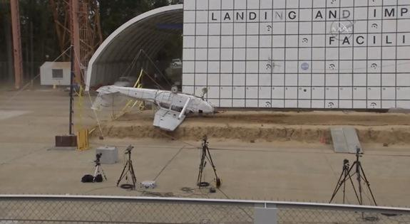 NASA Crashes Plane to Test Emergency Beacons (Video)