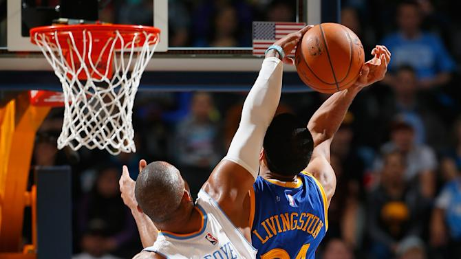 Nuggets rally for 114-103 win over short-handed Warriors