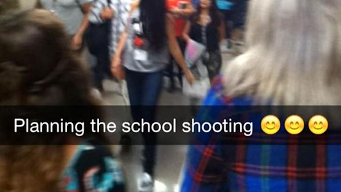 teen arrested after school shooting prank on snapchat