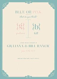 Invitacion baby shower Giuliana y Bill Rancic