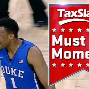 Duke's Jabari Parker Finishes After Rodney Hood Missed Dunk | ACC Must See Moment