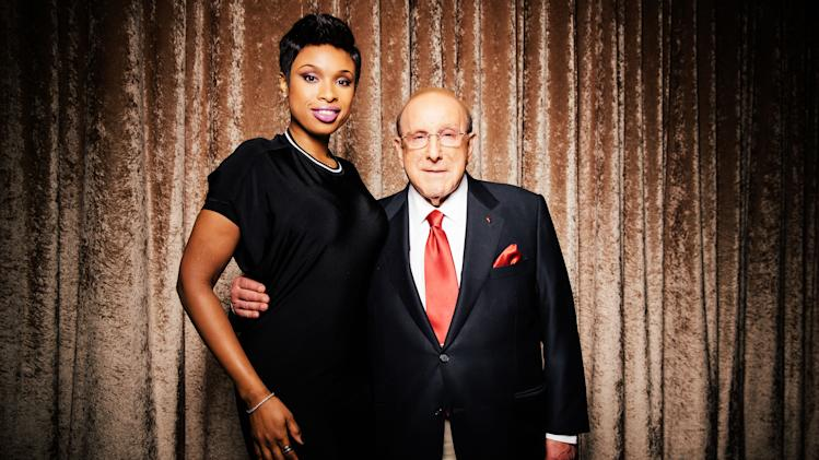 Clive Davis, right, chief creative officer of Sony Music, and singer-actress Jennifer Hudson pose at The Beverly Hilton during press day on Thursday, January 23, 2014, in Beverly Hills, Calif. Hudson will be performing at Davis' annual pre-Grammy gala on Saturday, Jan. 25, 2014, in Los Angeles. (Photo by Casey Curry/Invision/AP)