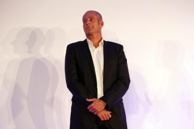 French Davis Cup tennis team captain Guy Forget attends a presentation of the French Olympic team in Paris for the 2014 Winter Olympics in Sochi