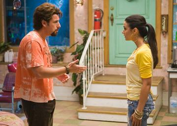 Adam Sandler and Emmanuelle Chriqui in Columbia Pictures' You Don't Mess With the Zohan