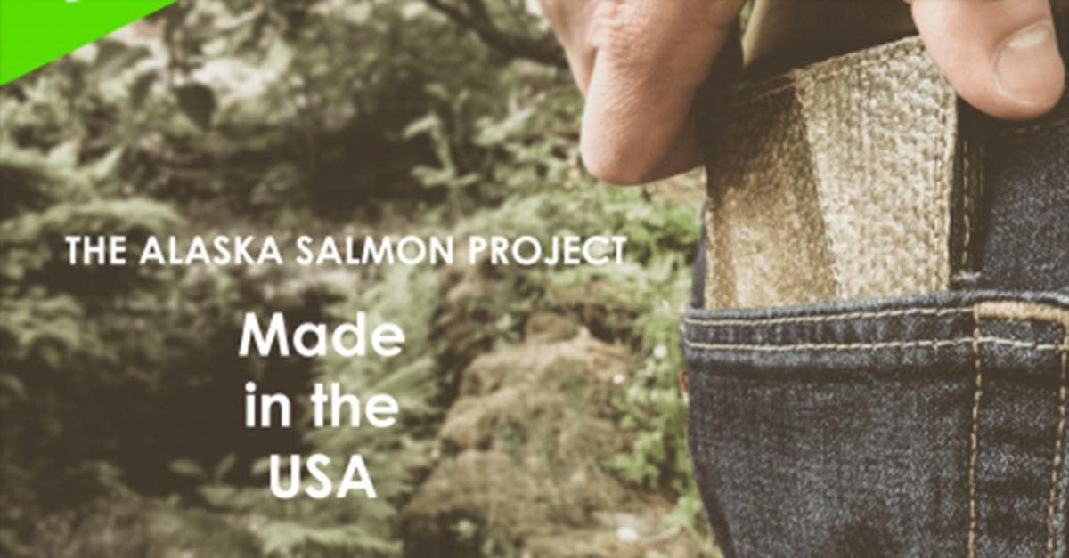 Wild Salmon Leather Wallets!