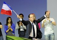 Francois Hollande campaigns in Marseille, southern France, last month. The French Socialist presidential frontrunner has toughened his stance on immigration in a campaign increasingly fought on themes dear to the far right
