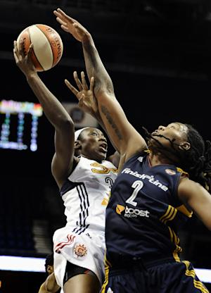 Charles' double-double leads Sun past Fever, 70-64