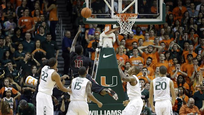Florida State pulls away from Miami, 63-53