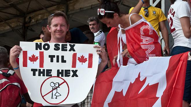 A Canadian Football Fan Shows AFP/Getty Images