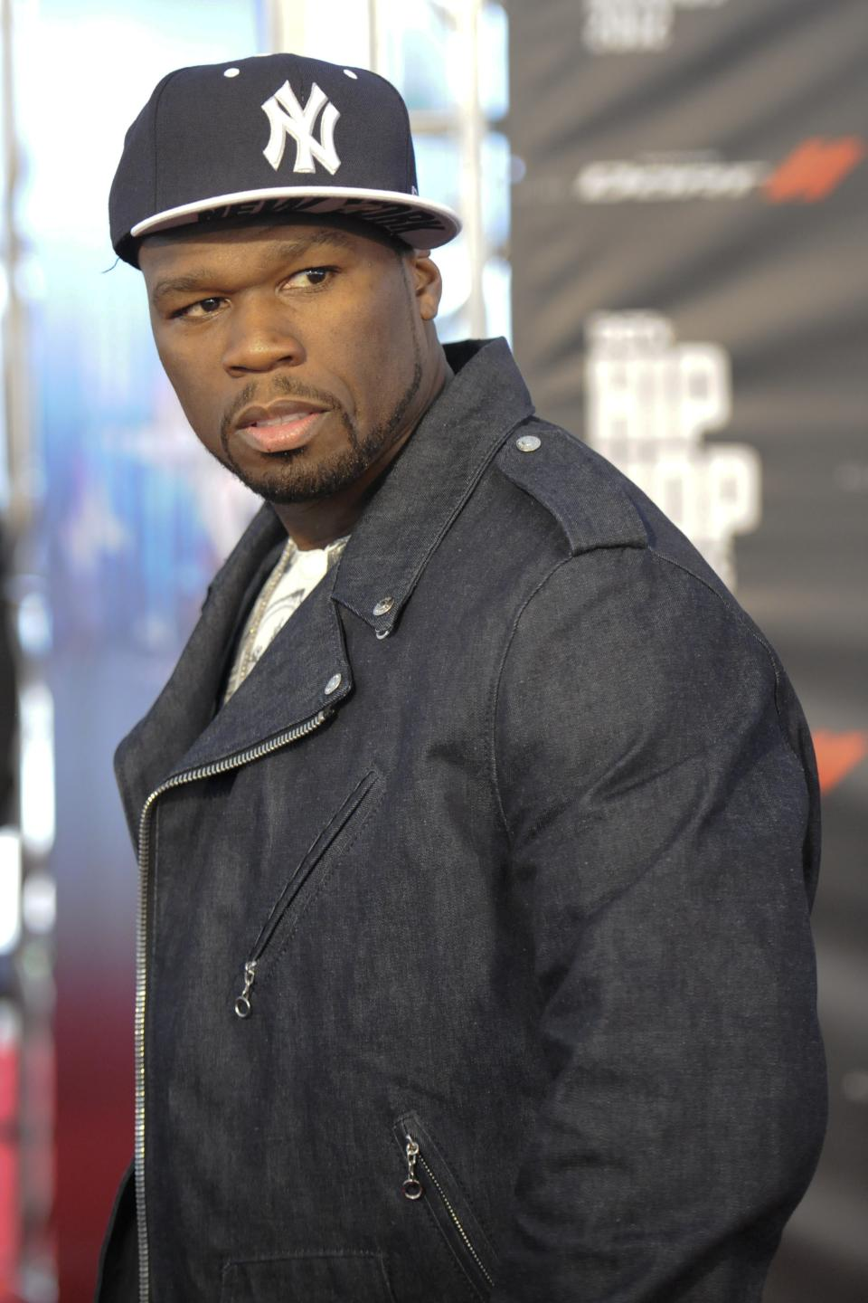 Artist  50 Cent attends the BET Hip-Hop Honors red carpet at Boisfeuillet Jones Atlanta Civic Center on Saturday, Sept. 29, 2012, in Atlanta. (Photo by John Amis/Invision/AP)