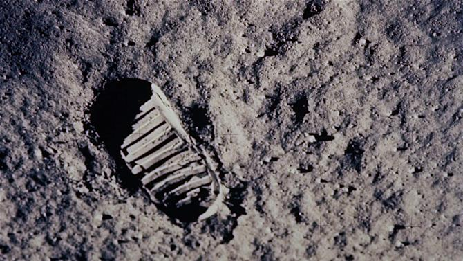In this July 20, 1969 file photo, a footprint left by one of the astronauts of the Apollo 11 mission shows in the soft, powder surface of the moon. Commander Neil A. Armstrong and Air Force Col. Edwin E.
