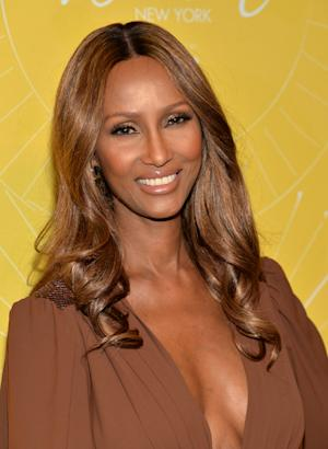 """Model Iman attends Variety's """"Power of Women: New York"""" luncheon at Cipriani Midtown on Friday, April 25, 2014 in New York. (Photo by Evan Agostini/Invision/AP)"""