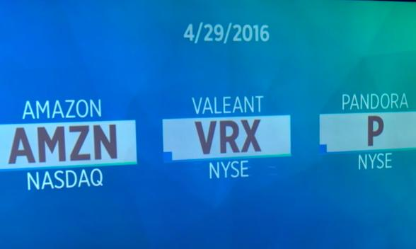 Amazon soars; Valeant faces more investigations; Pandora shares jump