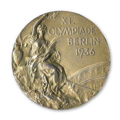 The 1936 Jesse Owens gold medal which will be up for auction — SCP Auctions