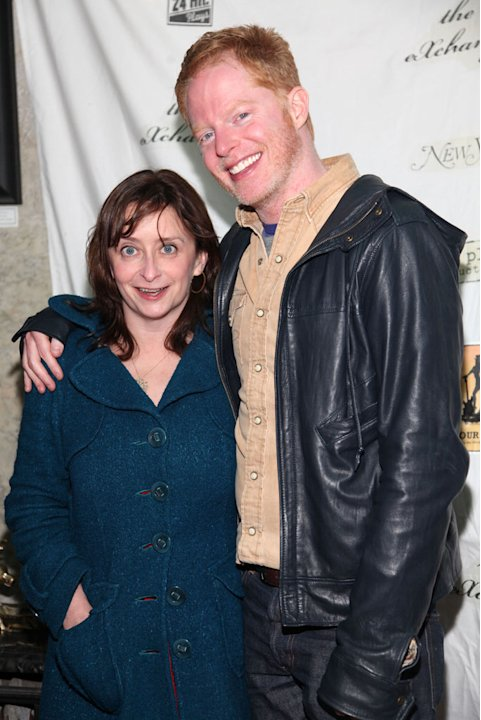 Rachel Dratch and Jesse Tyler Ferguson attend the 24 Hour Musicals after party at The National Arts Club on April 13, 2009 in New York City. 