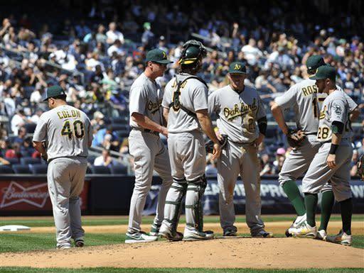 Hughes shuts down A's as Yankees beat Colon 4-2