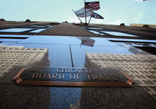 <p>The CME Group, the U.S., and the City of Chicago flags fly from the Chicago Board of Trade Building in Chicago, Illinois. CME Group, the world's largest futures market operator, said Monday it was seeking British regulatory approval to set up a European exchange based in London.</p>