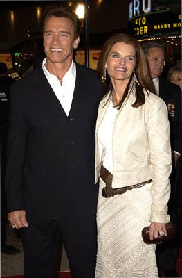 Arnold Schwarzenegger and Maria Shriver at the Westwood premiere of Collateral Damage