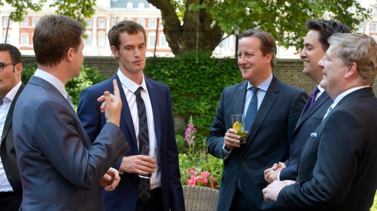 Andy Murray Meets David Cameron At Downing Street