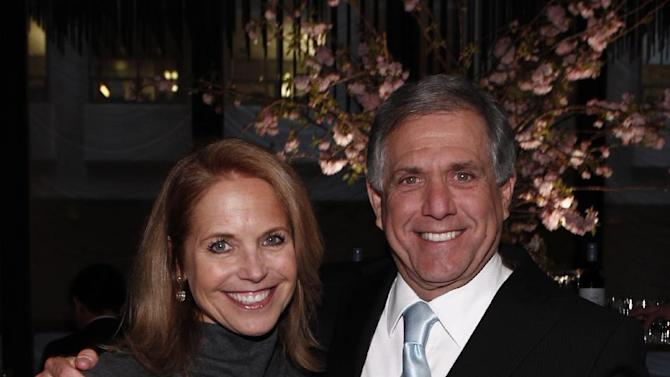 In this photograph taken by AP Images for The Hollywood Reporter Katie Couric and Leslie Moonves are seen at The Hollywood Reporter 35 Most Powerful People in Media event on Wednesday, April 11, 2012 in New York. (Brian Ach/AP Images for The Hollywood Reporter)