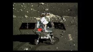 Still image taken from video shows China's first moon rover, Yutu, or Jade Rabbit, on the lunar surface