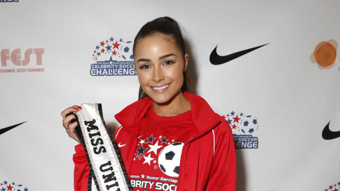 Miss Universe Olivia Culpo attends the LAFEST LA Film and Entertainment Soccer Tournament, on Sunday, March 24, 2013 in Carson, California. (Photo by Todd Williamson/Invision for THR/AP Images)