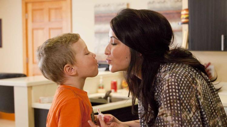 "This undated image released by Lifetime shows Bristol Palin, daughter of former Republican vice presidential candidate and Alaska Gov. Sarah Palin, and her son Tripp, during the filming of her series, ""Bristol Palin: Life's A Tripp,"" premiering Tuesday, June 19, at 10p.m. on Lifetime. (AP Photo/Lifetime, Richard Knapp)"