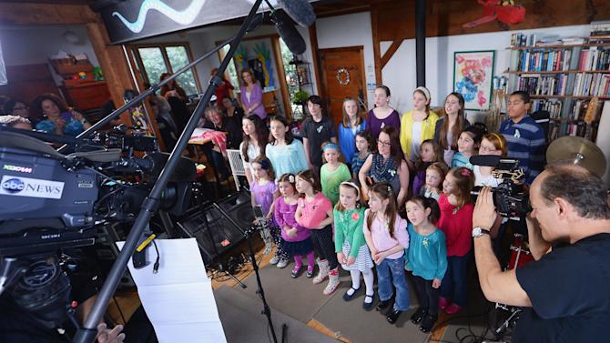 """""""A Song From Sandy Hook"""" Sung By The Children Of Newtown, CT With Ingrid Michaelson At The Home Of Chris Frantz And Tina Weymouth Of The Talking Heads"""