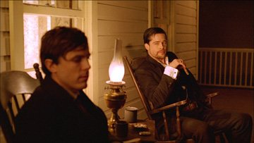 Casey Affleck and Brad Pitt in Warner Bros. Pictures' The Assassination of Jesse James by the Coward Robert Ford