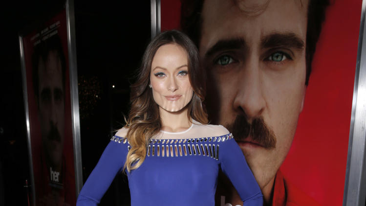 "Olivia Wilde attends the LA Premiere of ""Her"", on Thursday,December, 12, 2013 in Los Angeles. (Photo by Todd Williamson/Invision/AP)"