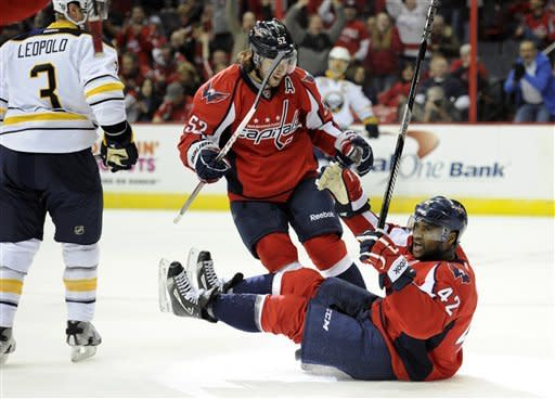 Ovechkin scores; Caps get 1st win, top Sabres 3-2