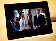 "A scene from ""Downton Abbey,"" seen displayed on an iPad. ""Downton Abbey"" collected 16 Emmy nominations this year"